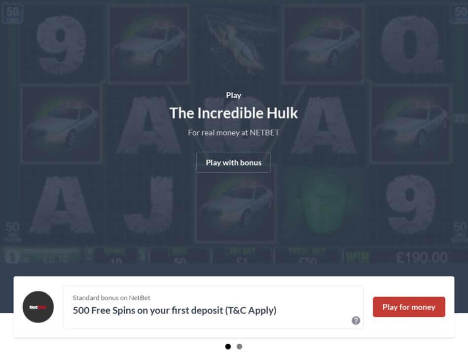 The Incredible Hulk Slot Machine Download