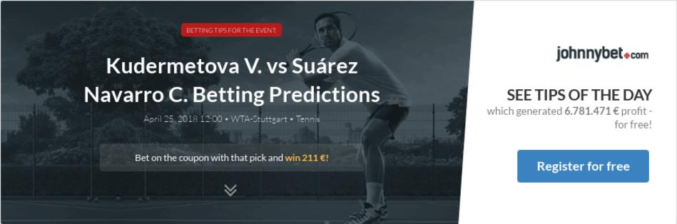 Suarez navarro vs bouchard betting tips is it legal to bet on kentucky derby nyc