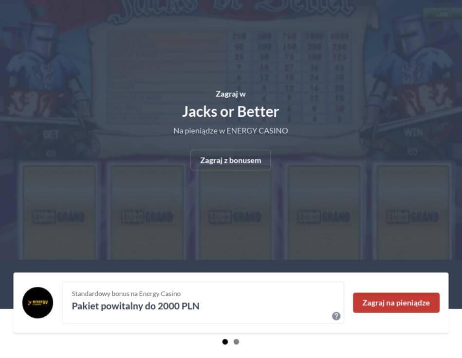 Video Poker Za Darmo