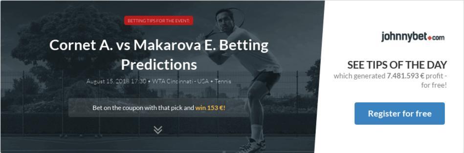 Cornet vs bouchard betting expert tennis best horse racing betting apps