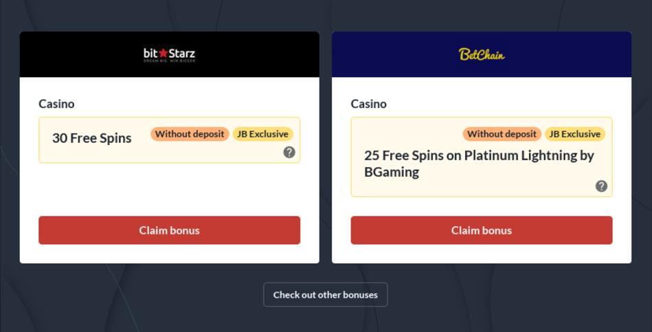 Bitcoin Casino No Deposit Bonuses
