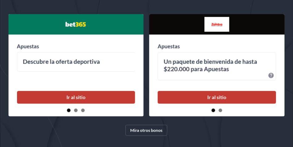 Bonos de Bienvenida Apuestas Deportivas Colombia