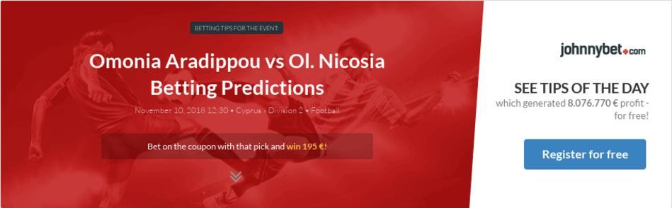Nicosia betting 1x2 goal sports betting results belmont
