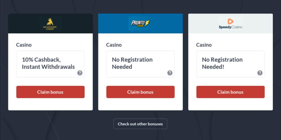 Casino Without Registration