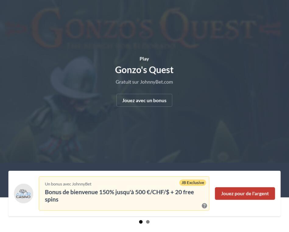 Gonzo's Quest Machine à Sous
