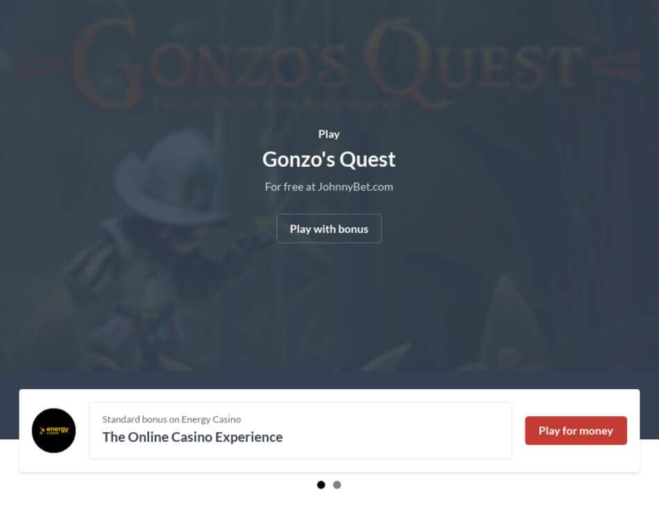 Gonzo's Quest VR Slot Machine