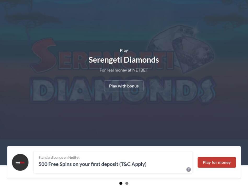 Serengeti Diamonds Slot Machine