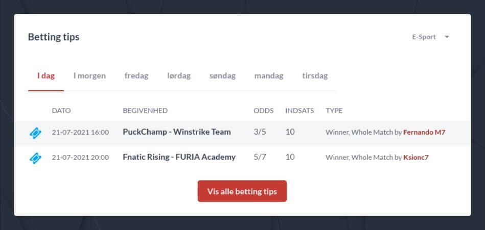 Danmark CS GO betting