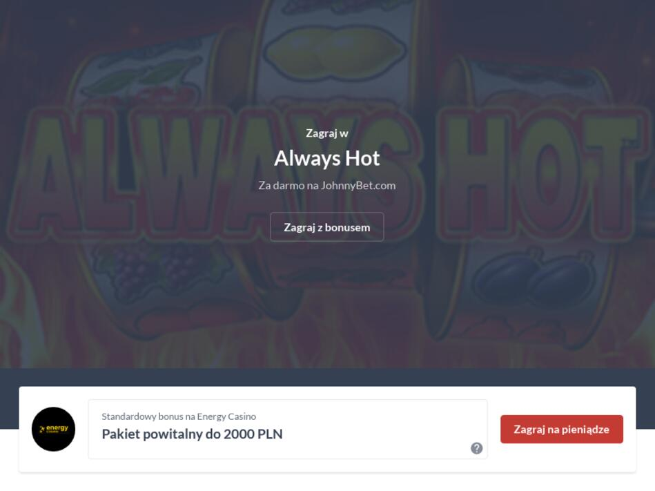 Automat Always Hot Za Darmo
