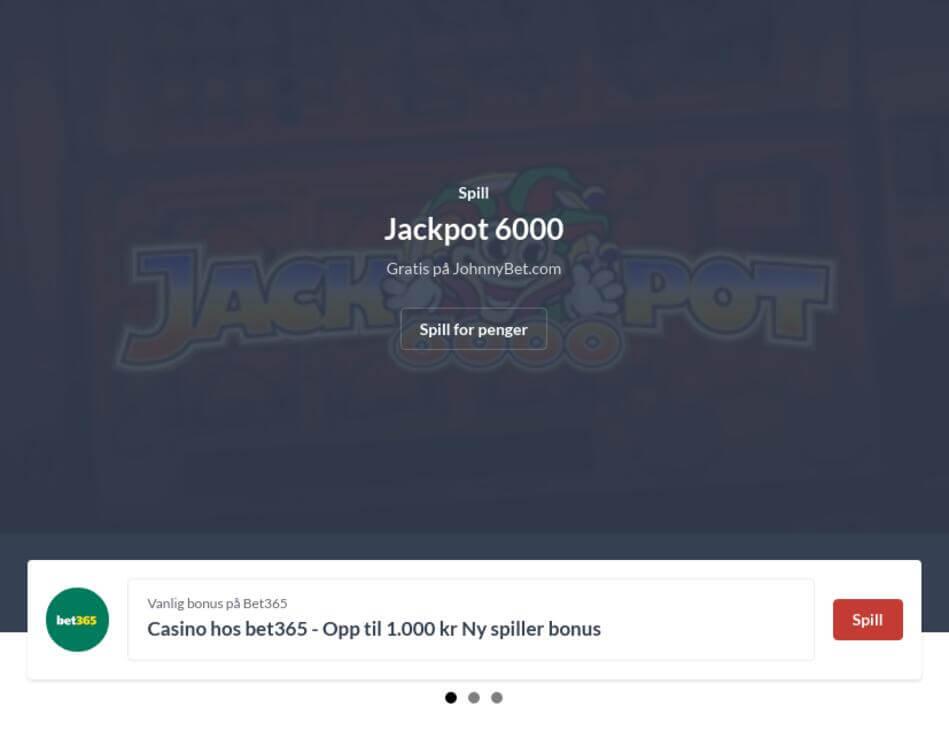 Norsk Spilleautomat Jackpot 6000