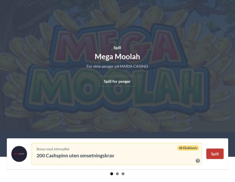 Mega Moolah Slot Last Ned Gratis