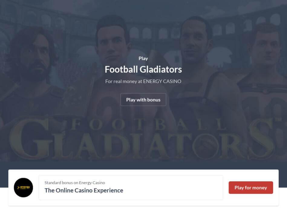 Football Gladiators Slot