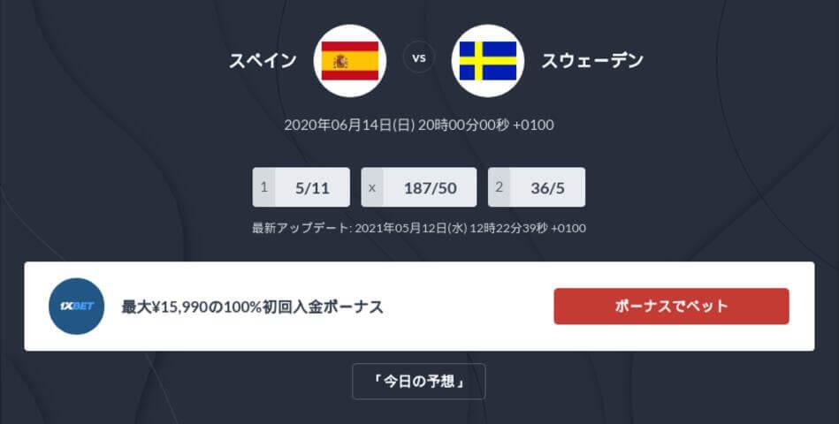 スペイン対スウェーデンの試合予想