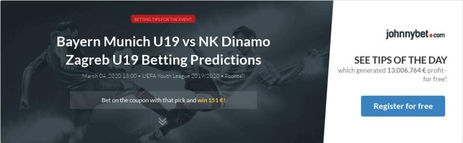 Dinamo zagreb vs bayern munich betting tips off track betting peoria arizona