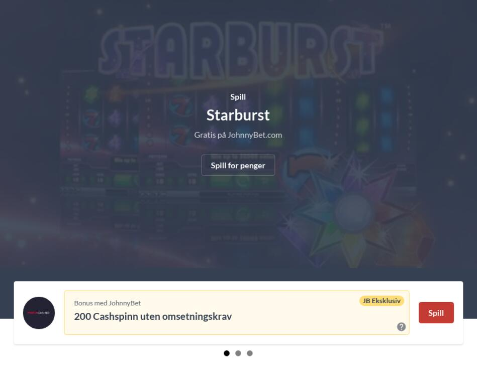 Starburst spilleautomat online