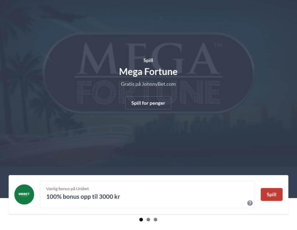 Mega Fortune Slot Online