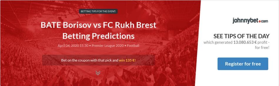 BATE Borisov vs FC Rukh Brest Betting Predictions