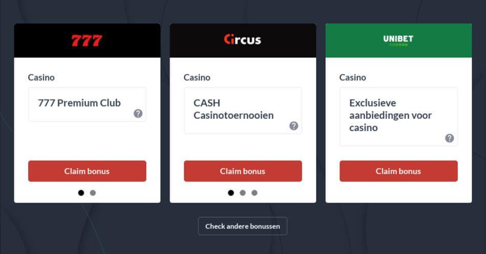 Legale Online Casino's in België