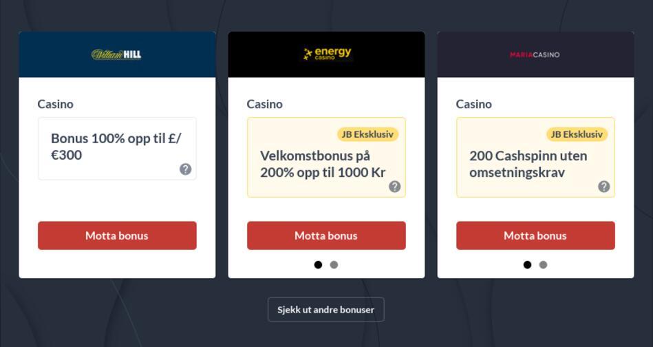 Casino online for ekte penger