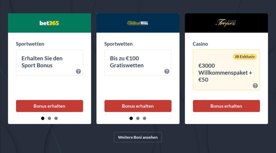 Bonuscodes für online Casinos und Wettanbieter