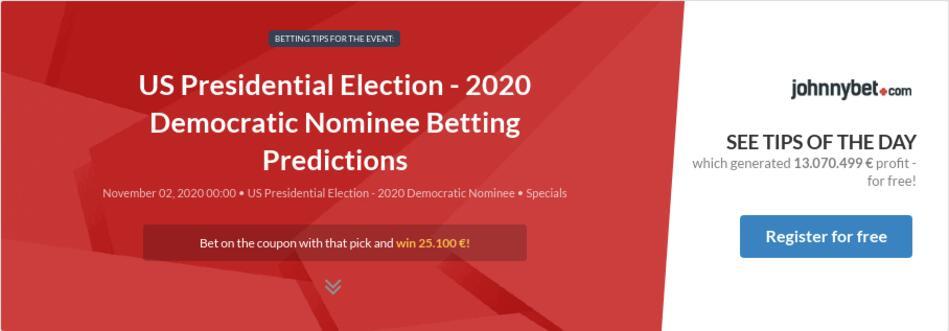 Betting odds democratic nominee 2020 binary options winning formula pdf