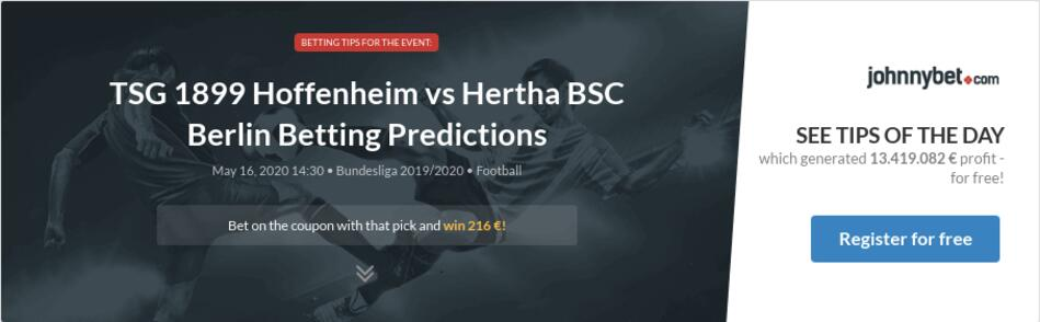 TSG 1899 Hoffenheim vs Hertha BSC Berlin Betting Predictions