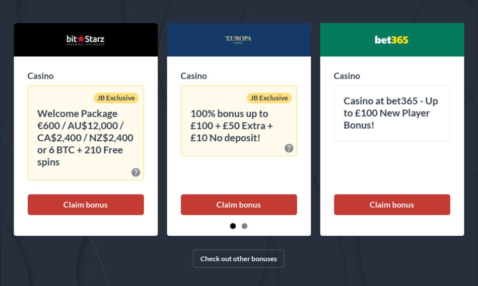 Best Promo Codes for Casinos and Bookmakers