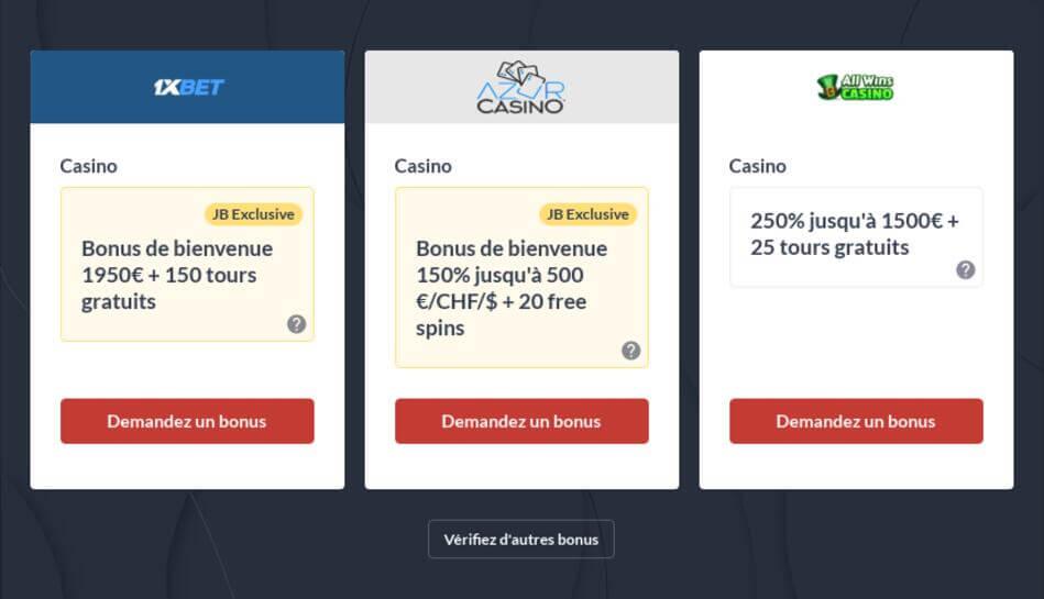 Casino Bonus Gratuit Retirable