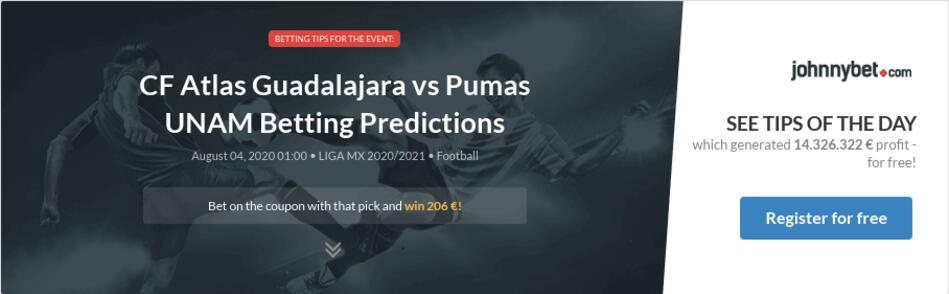 Atlas vs unam betting predictions