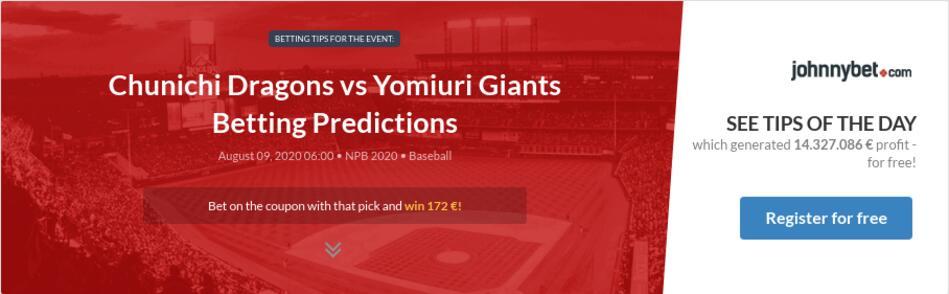 Yomiuri giants betting odds understanding over under betting