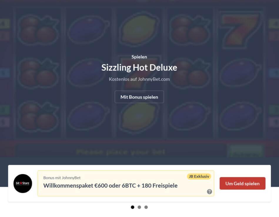 Sizzling Hot Deluxe kostenlos online spielen
