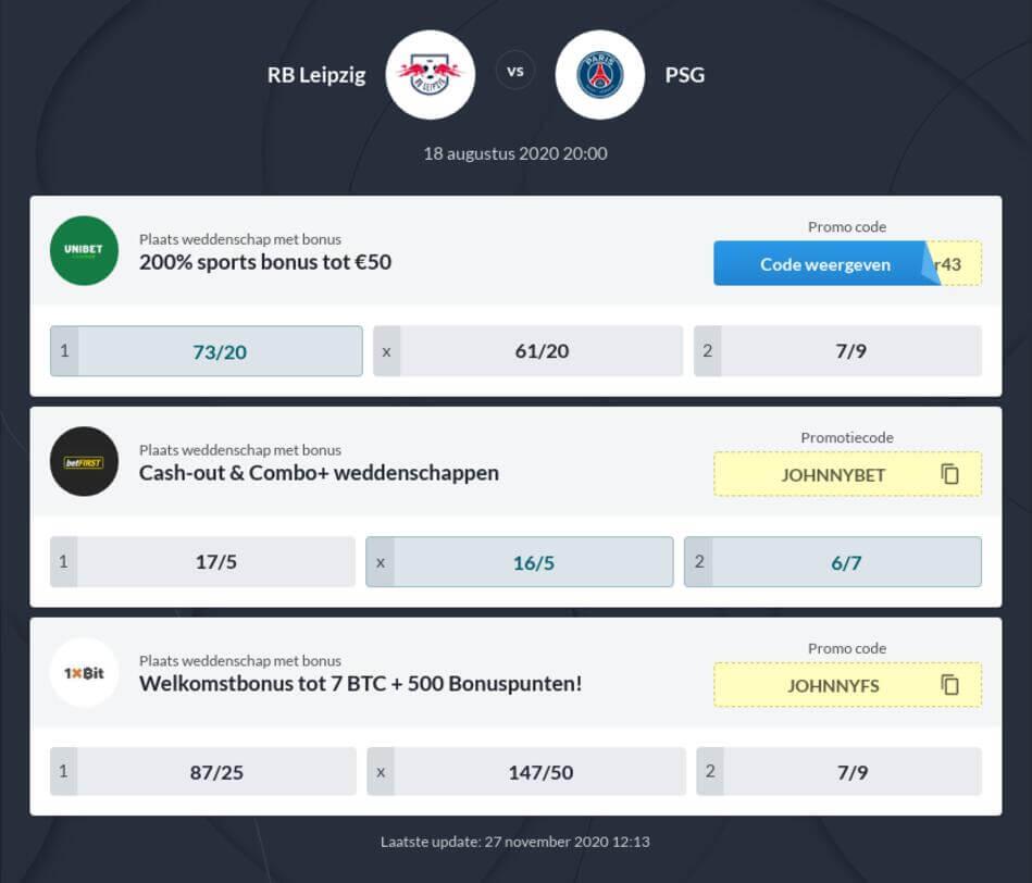 RB Leipzig - PSG Voorspelling en Odds