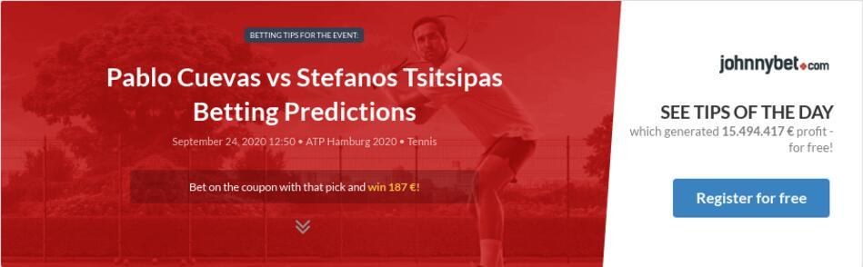 Pablo Cuevas Vs Stefanos Tsitsipas Betting Predictions Tips Odds Previews 2020 09 24 By Blaq