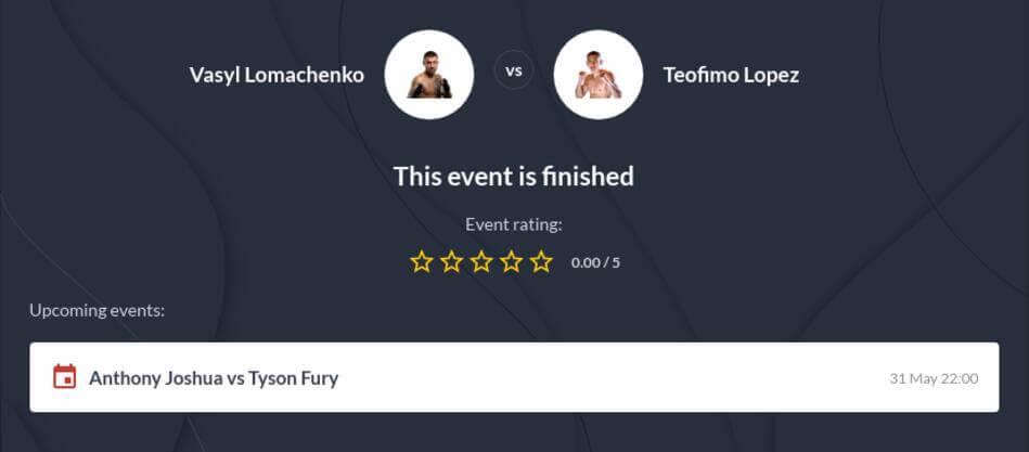 Lomachenko vs Lopez Betting Tips