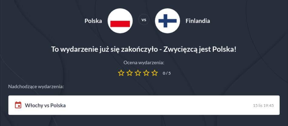Polska - Finlandia Zakłady Bukmacherskie