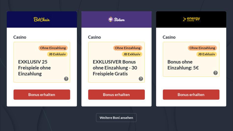 No Deposit Bonus Casino Deutsch