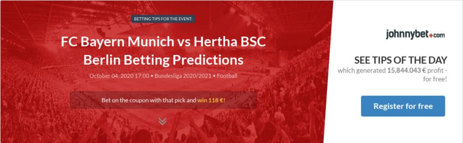 Hertha berlin vs bayern munich betting tips sports betting analysis software