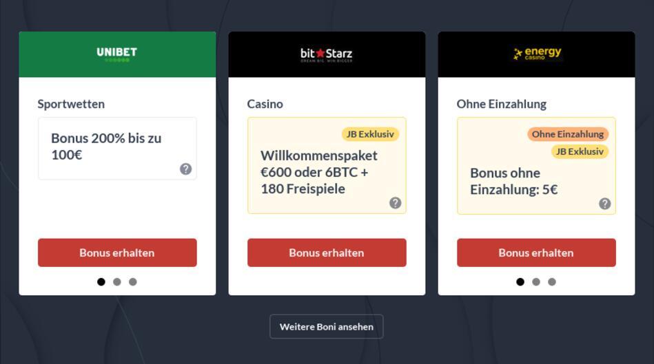 Online Casino Neukundenbonus