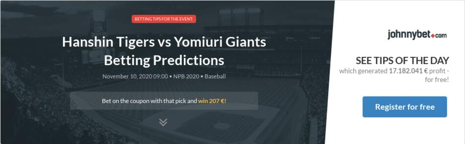 Yomiuri giants betting odds bitcoins worth millions march