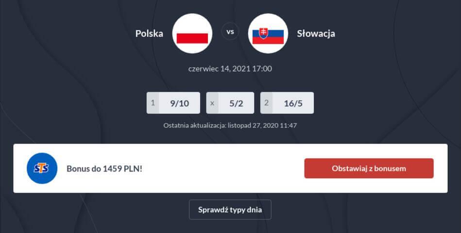 Polska – Słowacja Zakłady Bukmacherskie