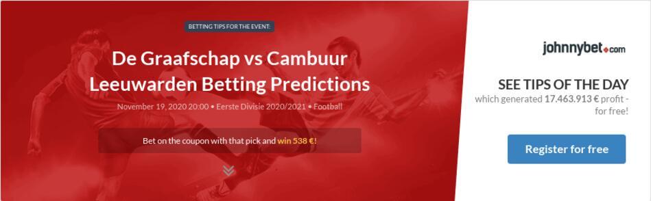 cambuur vs de graafschap betting tips