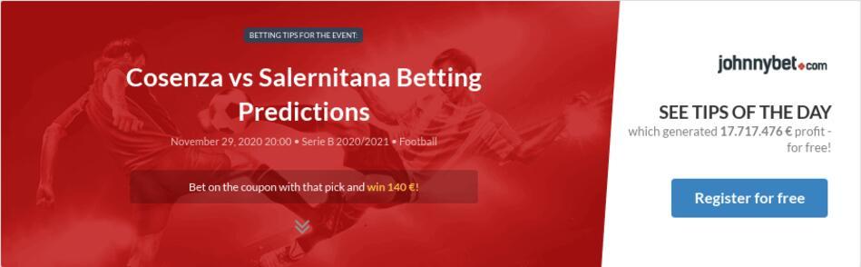 Cosenza vs Salernitana Betting Predictions