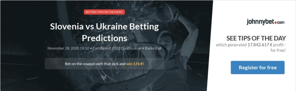 Ukraine slovenia betting preview how betting odds works