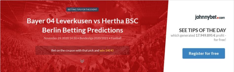 Bayer 04 Leverkusen vs Hertha BSC Berlin Betting Predictions