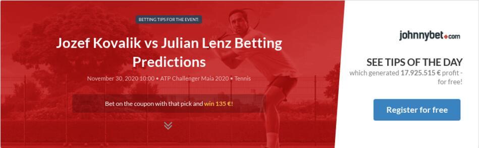 Jozef Kovalik vs Julian Lenz Betting Predictions