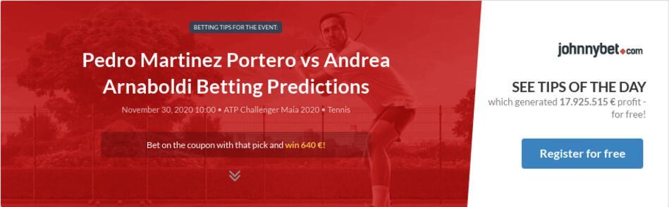 Pedro Martinez Portero vs Andrea Arnaboldi Betting Predictions
