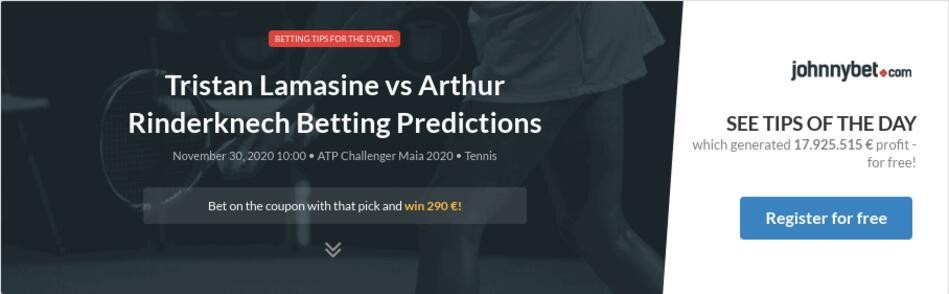 Tristan Lamasine vs Arthur Rinderknech Betting Predictions