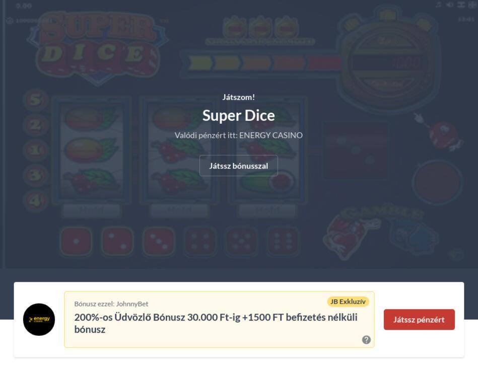 Super Dice Letöltés Ingyen