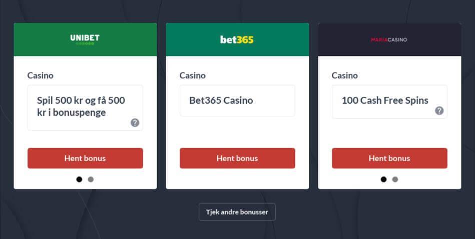 Spillemaskiner med bonus