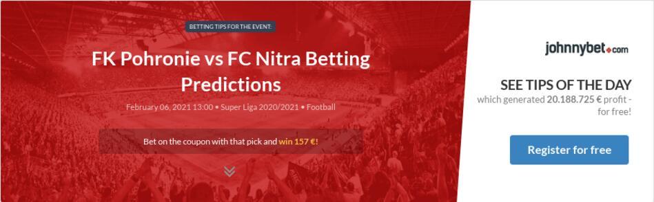 FK Pohronie vs FC Nitra Betting Predictions